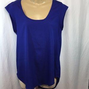 EUC Daniel Rainn royal blue short sleeve top